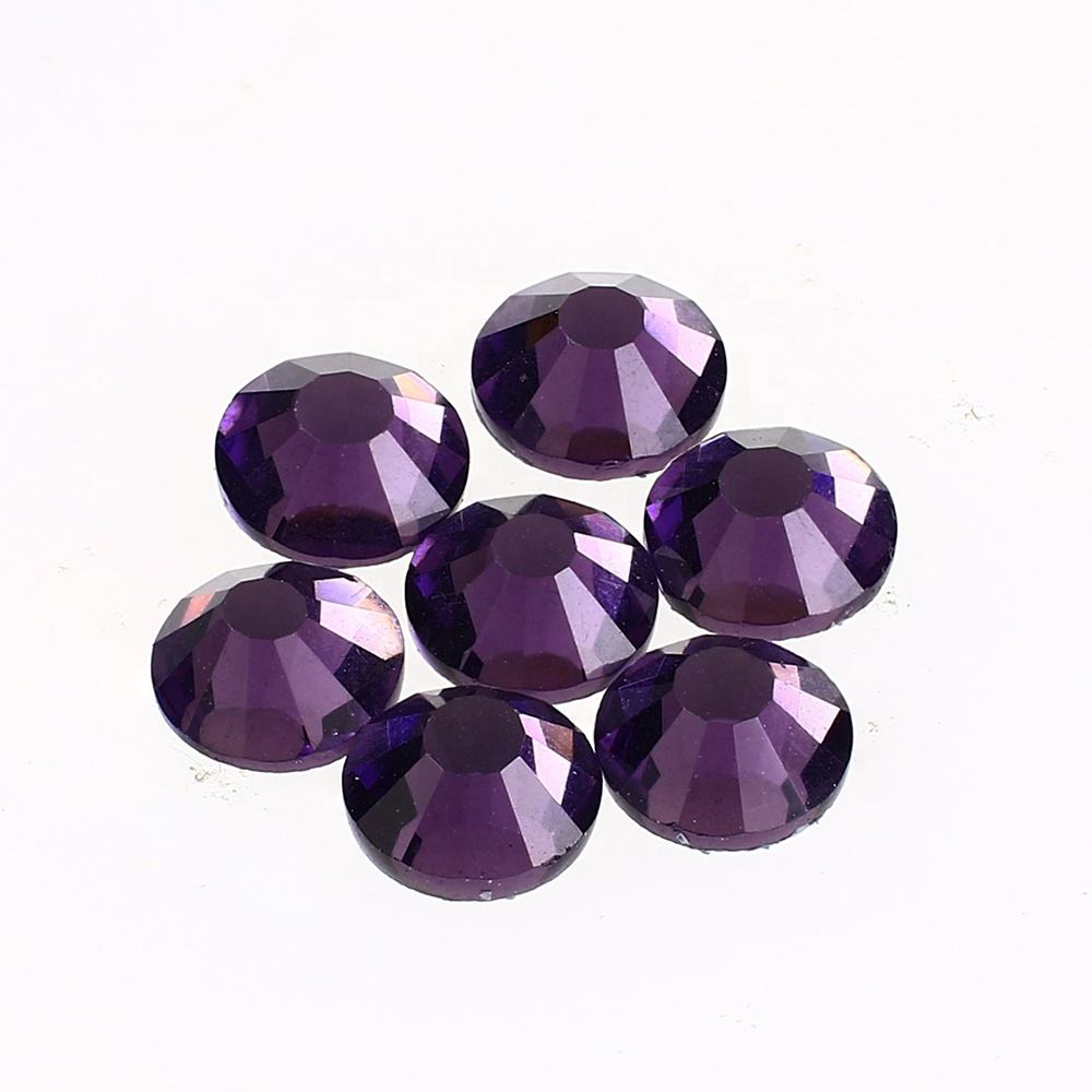 100 NonHotfix Flatback Glass Crystal Diamanté Rhinestones Tanzanite Purple