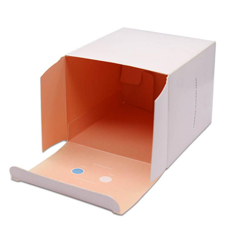 Rectangulaire serviettes Hygiéniques Boîte D'emballage en papier pour fille produits d'hygiène produits sanitaires