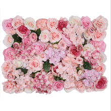 Custom 3D Pink Flowerwall Wedding Artificial Silk Rose Flower Wall Panel Backdrop Artificial Flowers Decorative Flowers For Wall