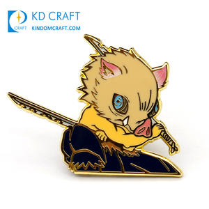 Manufacturer custom logo metal crafts cute cartoon style lapel pin badges hard enamel anime character pin for decoration