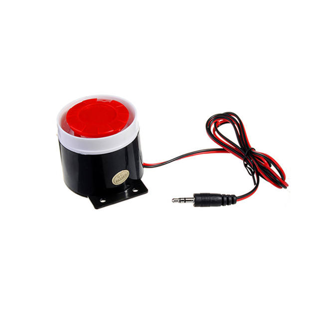 130DB 12V Mini Customizable hooter wired security Loud alarm siren