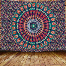 2020 New design Custom fabric Polyester India Hippie Decoration Indian Wall Hanging Mandala Tapestry For Living Room