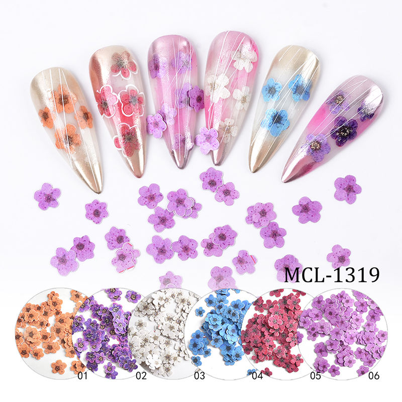 Nail products 2020 new colorful flower nail glitter nail art sequins