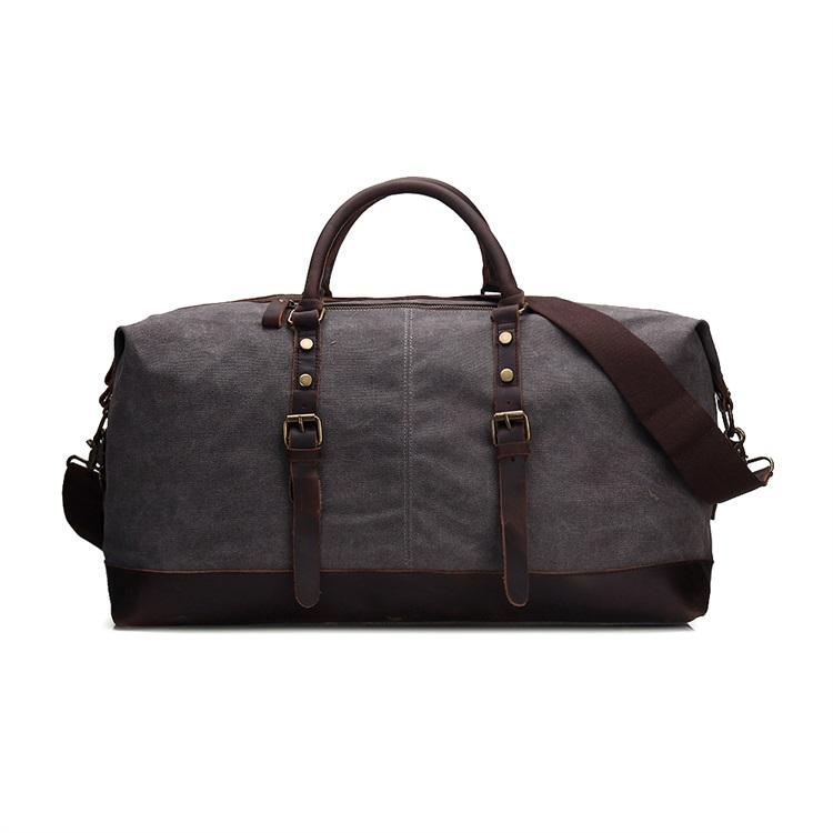 Guangzhou factory custom men fashion travel bag canvas duffel bag
