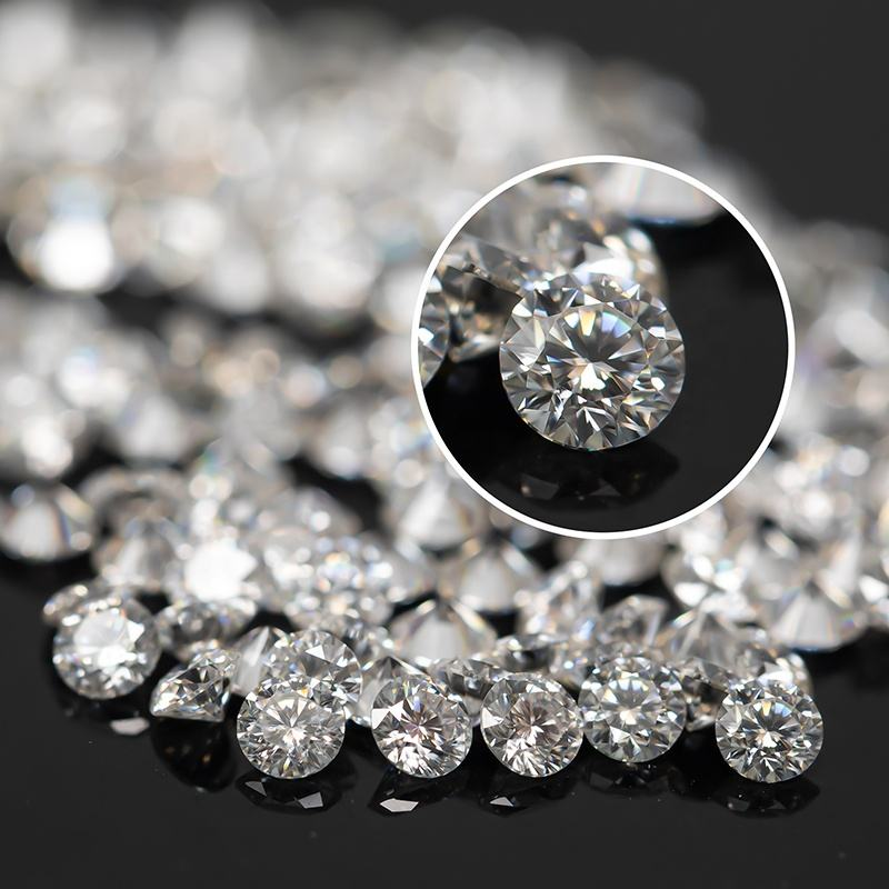 ZF Bulk Melee Small Diamant Round Brilliant Cut DEF White VVS1 Clarity 1.0mm to2.9mm Synthetis Moissanite Stones