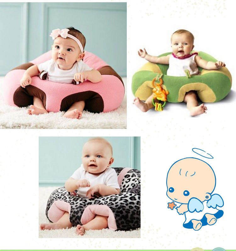 AliGan Baby Plush Seat Cross-border Explosions Baby Learning Chair Plush Toys Creative Children Cartoon Sofa