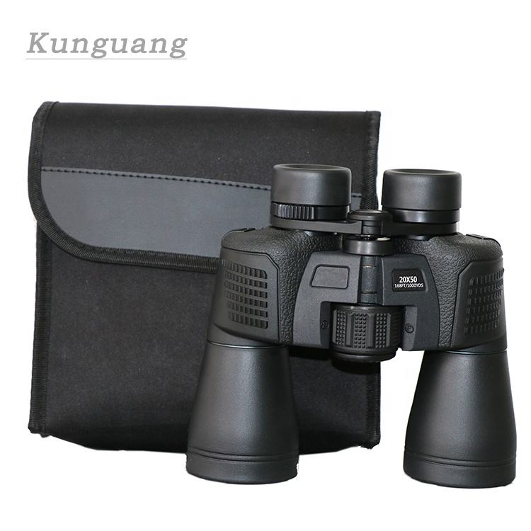 Hot selling cheap price center focus 10X50 binoculars long range HD waterproof 20x50 telescope with strap for adults