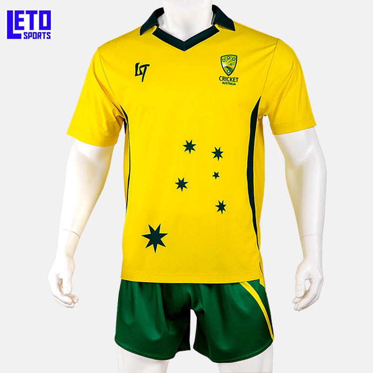 En gros <span class=keywords><strong>Sublimation</strong></span> Imprimé Jaune Maillots <span class=keywords><strong>de</strong></span> <span class=keywords><strong>Cricket</strong></span> Nouvelle Conception uniformes <span class=keywords><strong>de</strong></span> <span class=keywords><strong>Cricket</strong></span>