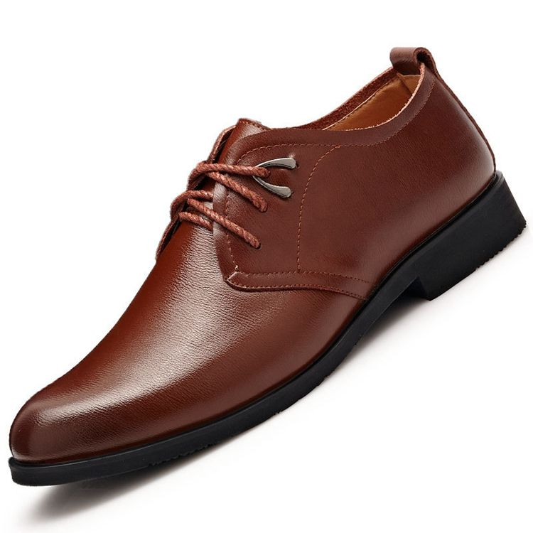 Casual Shoes Men Leather Fashion Mens Dress Stylish Formal Party Wear For New Model Pictures Wholesale European Genuine