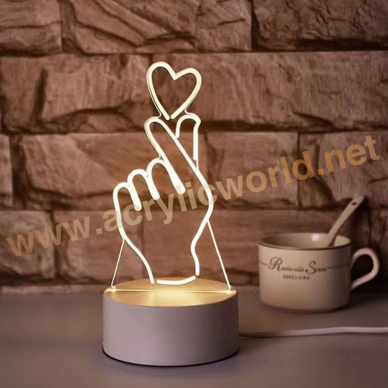 china factory Lamp 7 Color Changing LED 3D NightLight Building Light For Bedroom Promotional Gifts