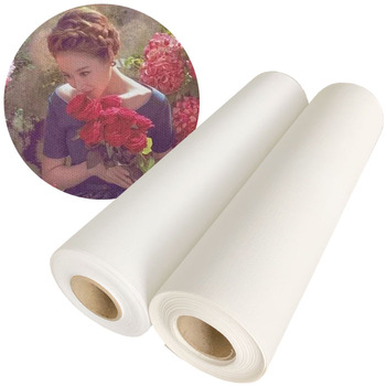 blank pure cotton fabric roll for painting canvas wholesale /100% polyester plain waterproof art canvas for Latex by rolls