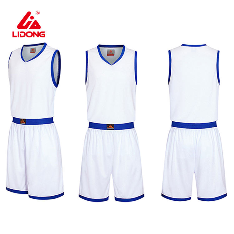 Tenue de basket-ball, en jersey, blanc