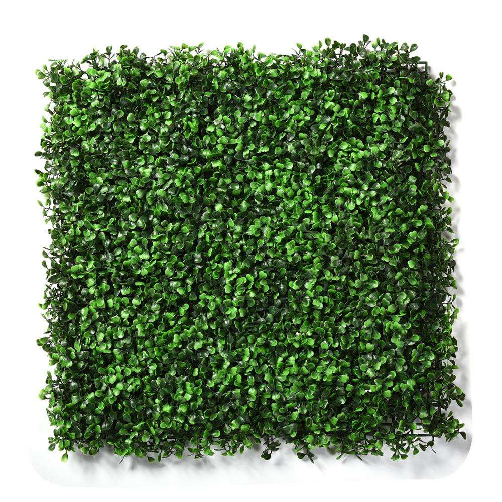 4 layers cheap decorative GREEN artificial boxwood wall grass