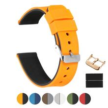Custom Double Color Made Silicone Rubber Strap Band For Watch