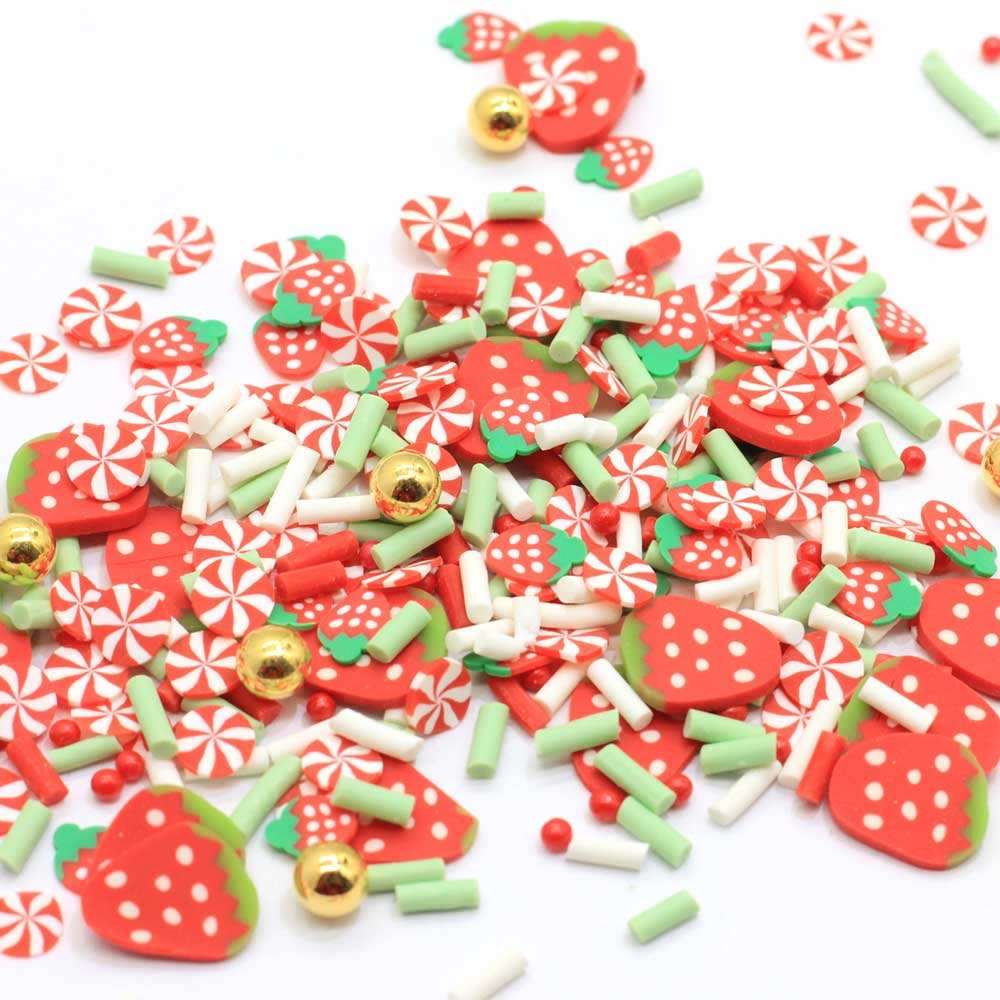 Mix Design Clay Brilliant Hot Pink Polymer Clay Sprinkles Slime Filling Sprinkles Cake Topping Polymer Clay Sprinkles