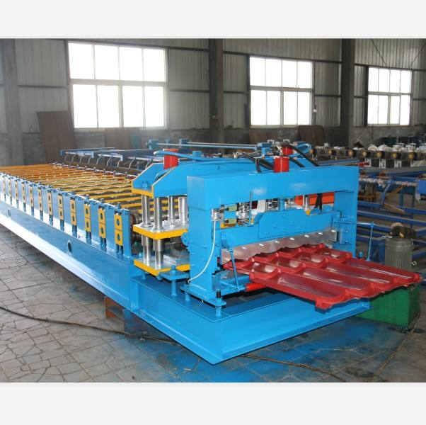 Produce roof tile forming machine/Glazed tile making machine/Steel sheet roll former