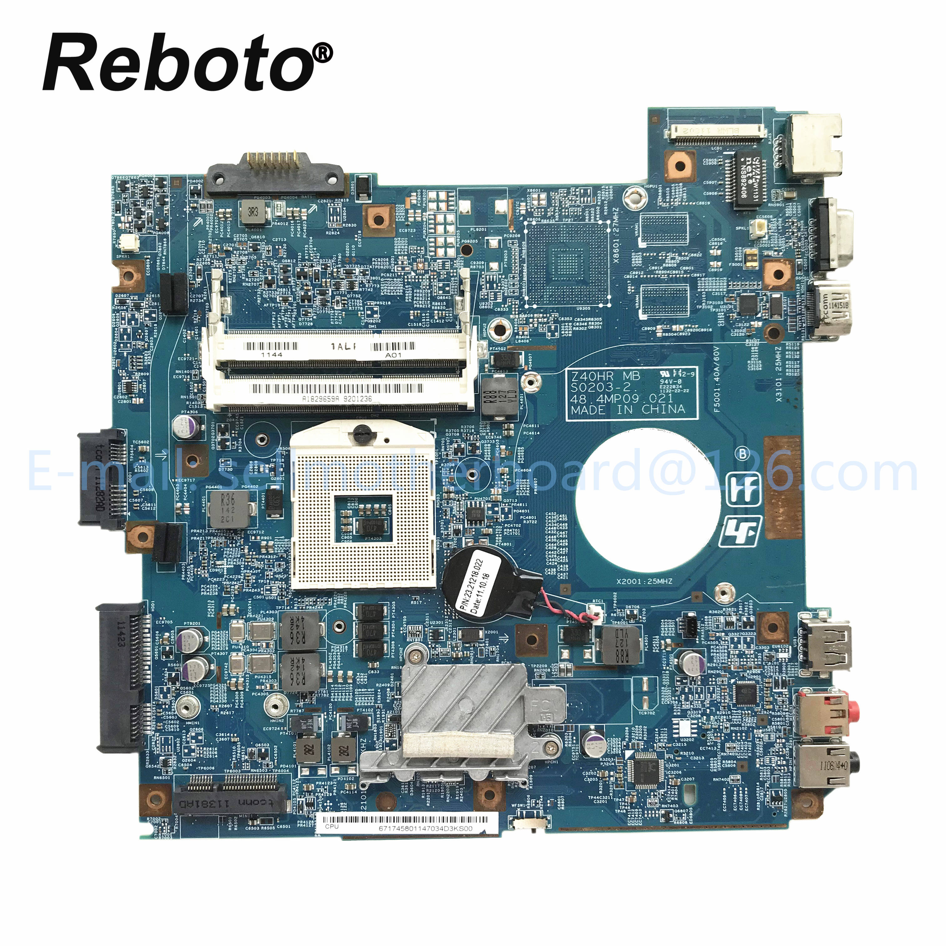 Für SONY VBCEG Laptop <span class=keywords><strong>Motherboard</strong></span> A1829659A Z40HR 48,4 MP 09,021 MBX-250 MainBoard 100% Geprüft Schnelles Schiff