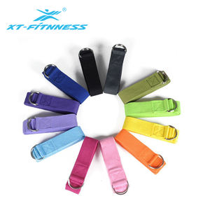 Fitness d-ring stretch belt yoga fitness stretching strap with loop