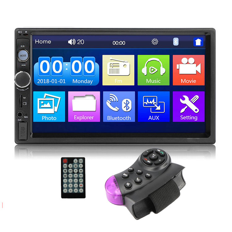 "2 Din Car Radio MP5 Player 7"" Touch Screen Bluetooth Phone Stereo FM/MP3/MP4/Audio/Video/USB In Dash auto radio player"