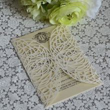 Laser cut wedding greeting card die-cut wedding invitations royal wedding card