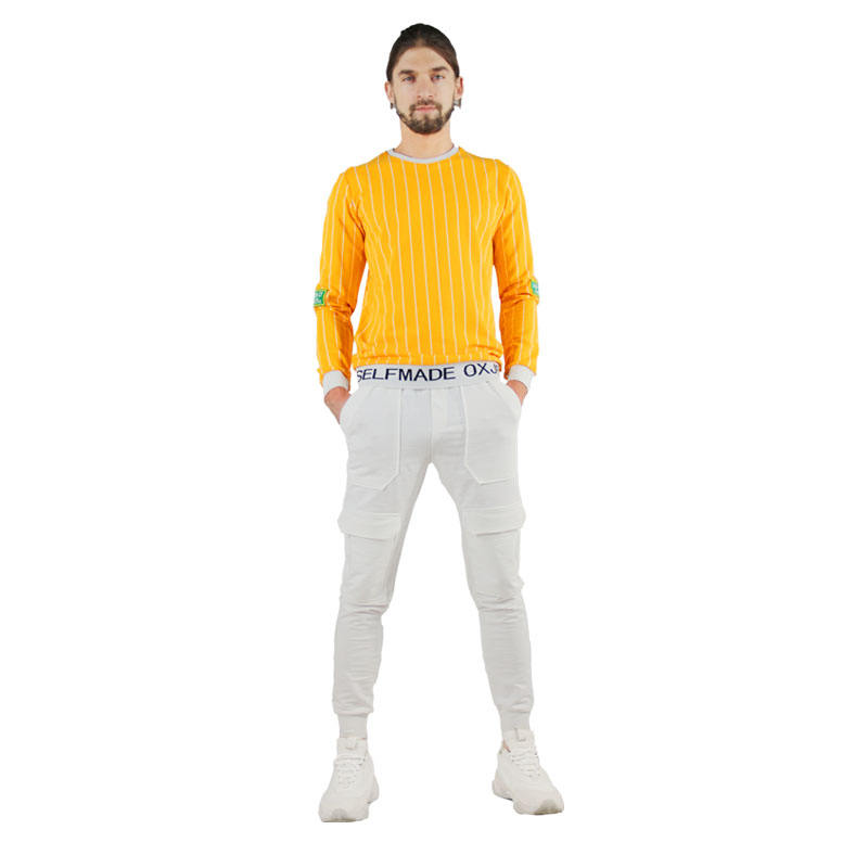 2020 Super Comfortable Stretch White Twill Slide Bottom Men's Gym Tracksuit Chinos Trousers Men