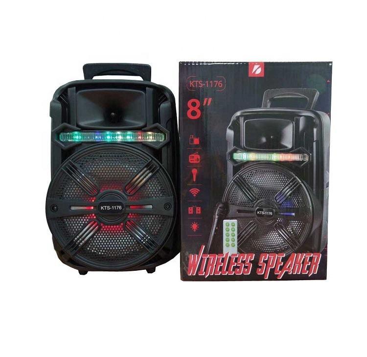 KTS-1176 Modern latest custom-made wireless speaker true wireless, Super Good sound for Karaoke Audio Player,With Flash Lighting