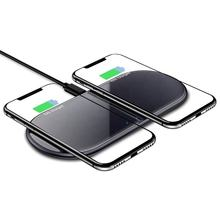 2 In 1 Dual 15W Qi Universal Wireless Charger Smart Phone Fast Charging Pad For Mobile Cellphone