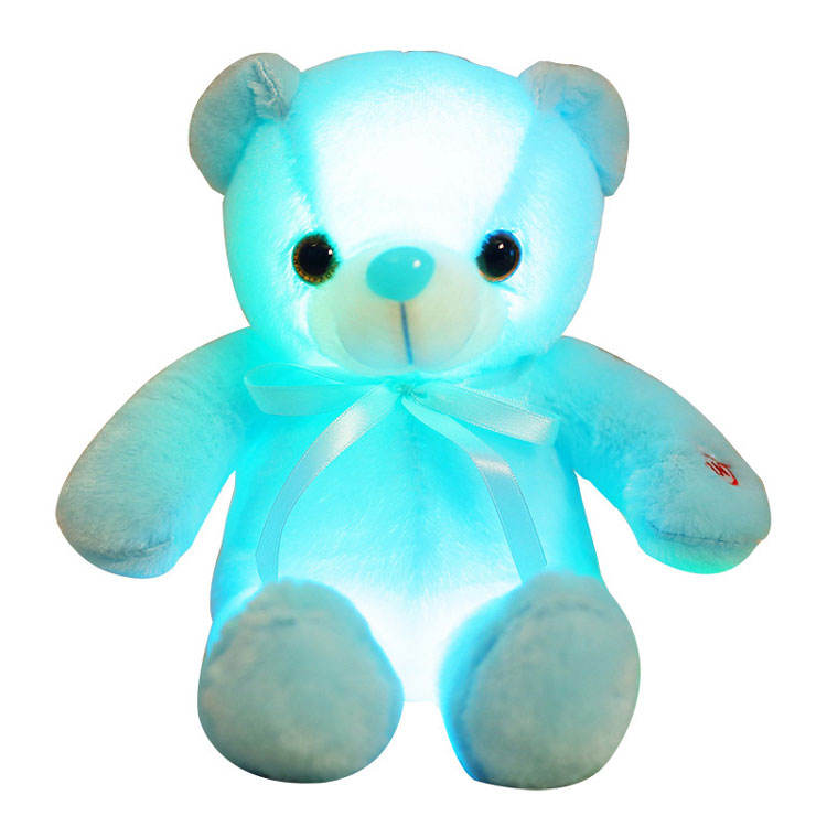 Bow Tie Orso Luminosa Ragdoll Peluche Giocattolo Built-in HA CONDOTTO Le Luci Colorate Teddy Bear
