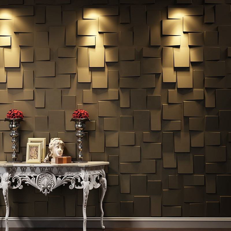 Wall Art Interior Decoration Eco-friendly Colorful 3D Texture Wall Panel For Home Decoration