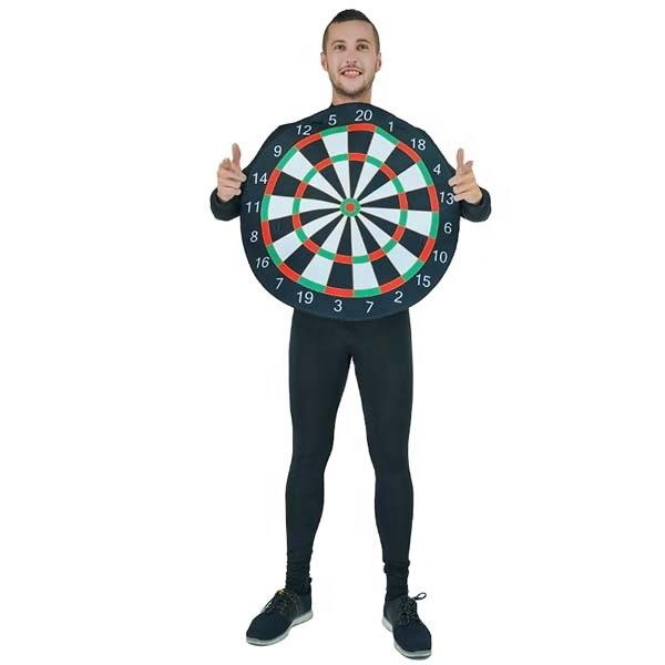 Carnival Party Costume Men Funny Cosplay Dartboard Costume Mascot Costume For Adult