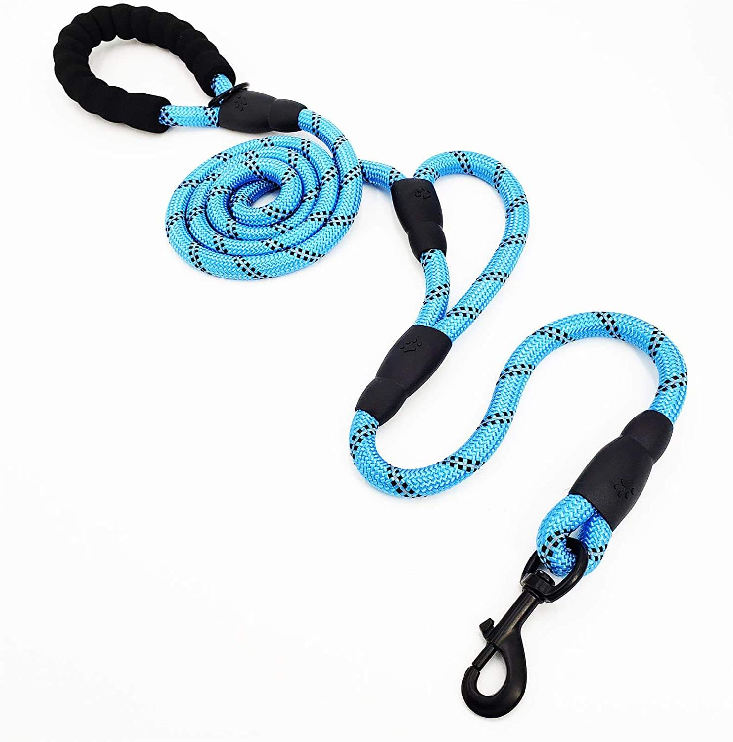 Padded Handles Reflective Stitching Long Heavy Duty Double 6FT Long Strong Dog Lead Leash for Medium Large Dogs