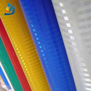 Light Clear Vinyl PET Plastic Infrared Retro Transparent Film Reflective Sheets for Road Sign EGP reflective film