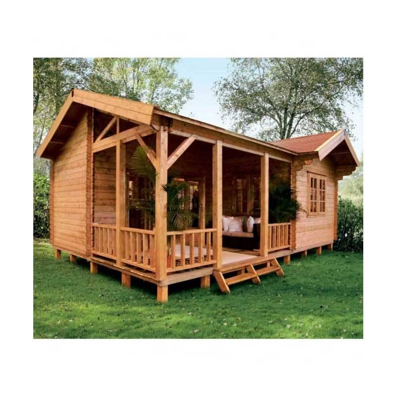 Log cabin wooden villa prefab home garden house for sale outdoor and indoor pet home