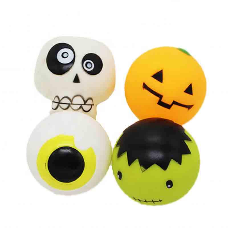 Free Sample 2020 PVC Dog Toy All Kinds Funny Styles Squeak Dog Chew Toys Halloween Custom Dog Balls