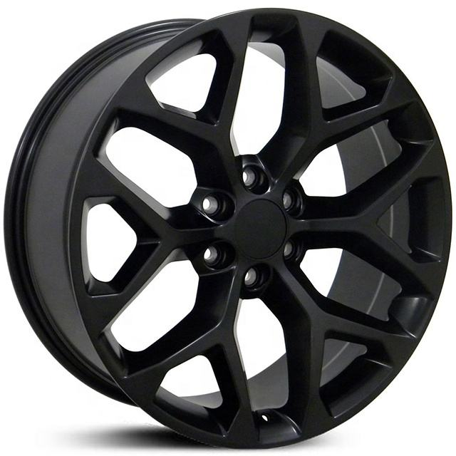 Manufacture of Black finishing 20 22 inch America car rims PCD 6X139.7 replica wheels