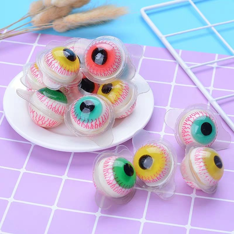 Cheap scary candy Halloween eyeball gummy candy for kids