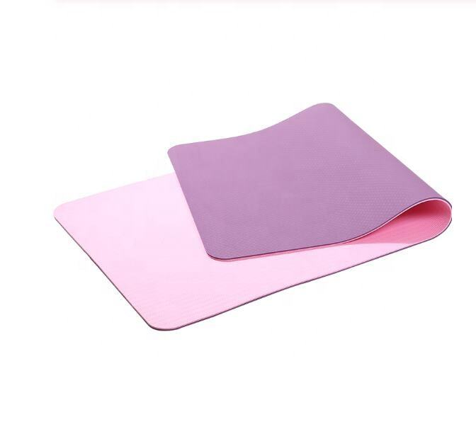 TPE Yoga Mat Anti Slip High Quality Eco Mat Exercise Fitness Rubber Foam Pads wholesale Pilates Sports Equipment