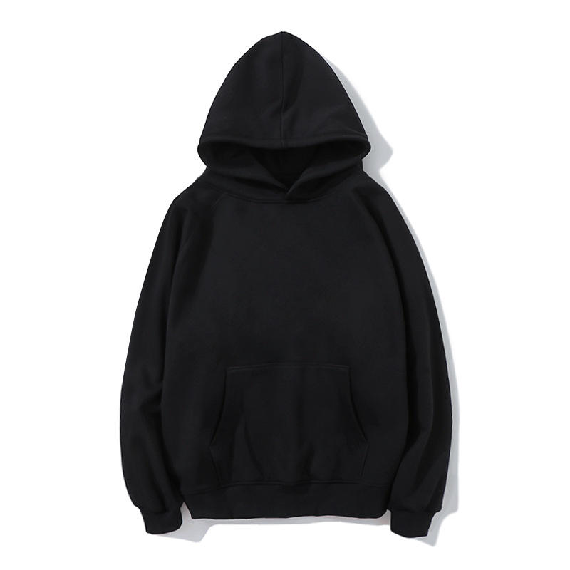 Cotton Thickened Custom Logo Multi Color Casual Black Hoodie