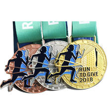 Free design custom fun metal antique gold running medals
