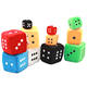 Car hanging toy custom fuzzy sponge foam dice wholesale colorful stuffed soft toy plush dice keychain
