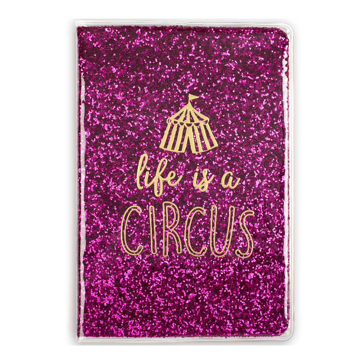 Weekly Planner Sequin Customizable Printed Hardcover Design Travel Journal Notebook