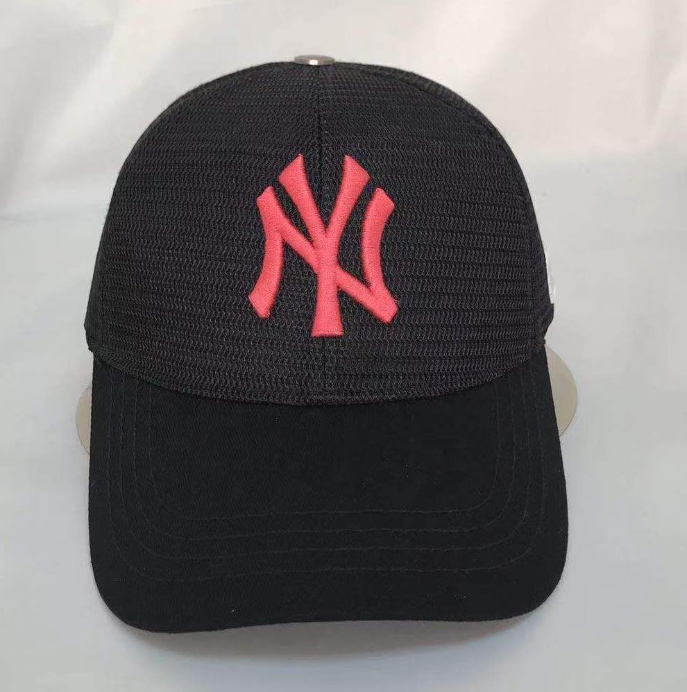 All Black Mesh NY cap with 3D Puff Embroidery Casquette Baseball