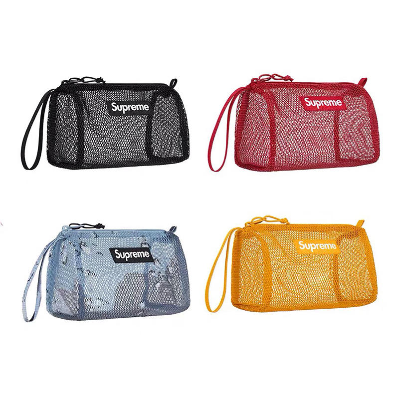 2020 Amazon INS hot sale SUP 20ss 4 color mesh outdoor travel storage bag/makeup bag/Cosmetic bag