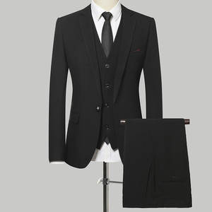 Newest Oem Manufacturers New Design Coat Pant Men Three Piece Royal Blue Suit black tuxedo suits