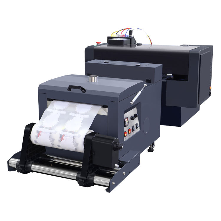 Hoge <span class=keywords><strong>Precisie</strong></span> Dual XP600 Printkoppen Transfer Pet Film Dtf Printer Droger Schudden Poeder Machine Fabrikant