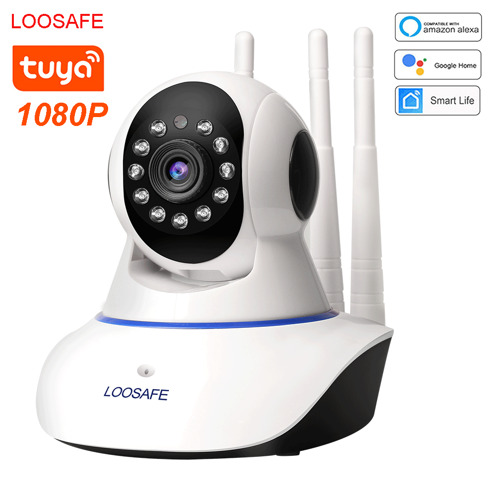 LOOSAFE tuya smart IP camera 2MP cctv wireless camera wifi ip camera two-way audio baby Motion Detector Night Vision