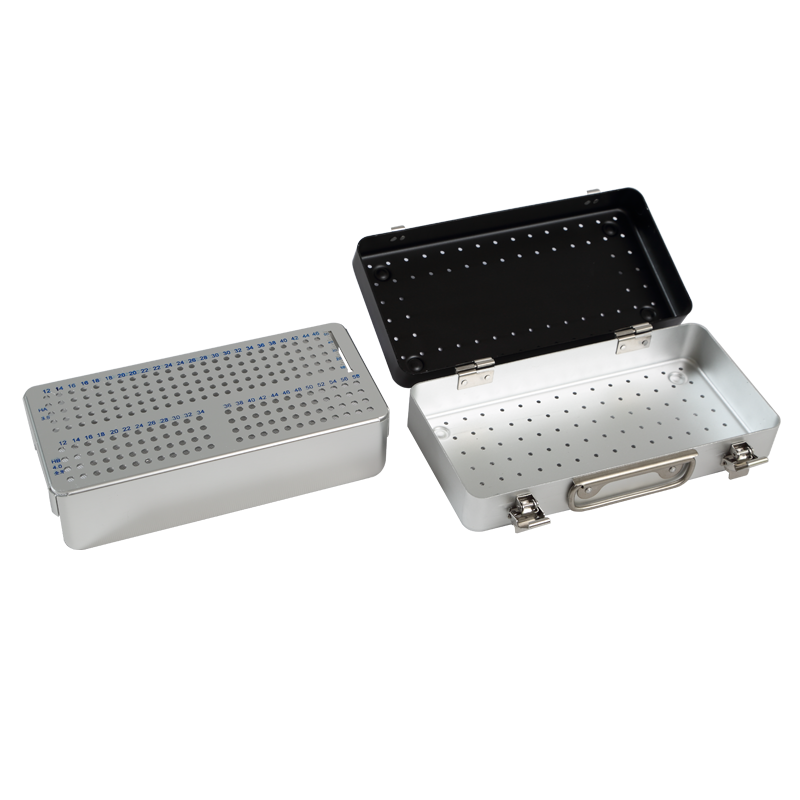 Hot sale aluminum alloy stainless steel metal surgical tray box container case basket upper limb screw implants sterilization