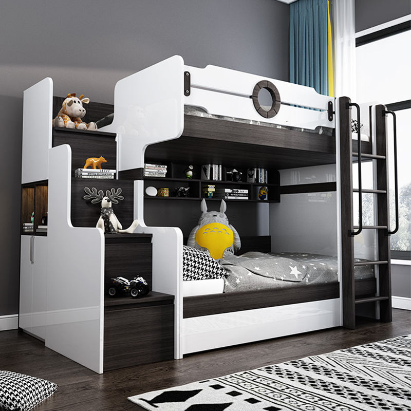 2021 new product factory Modern multi-functional double bunk beds for children furniture prices