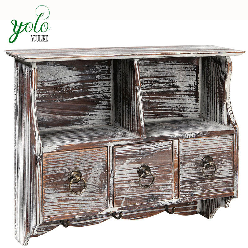 High Quality Wonderful Design Vintage ,Rustic Fir Wood Wall Storage Organizer For Jewelry,Small Things