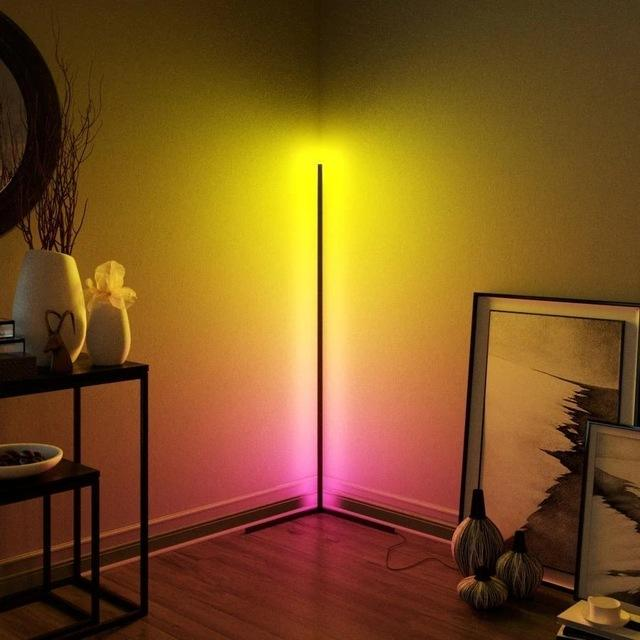 Cheap newest corner standing space saving designer nordic living room LED minimal lamp vibrancy floor lamp modern